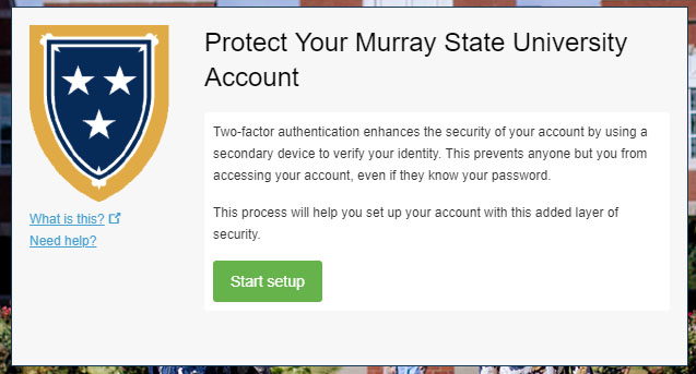 """Protect Your Murray State Account"" screenshot"