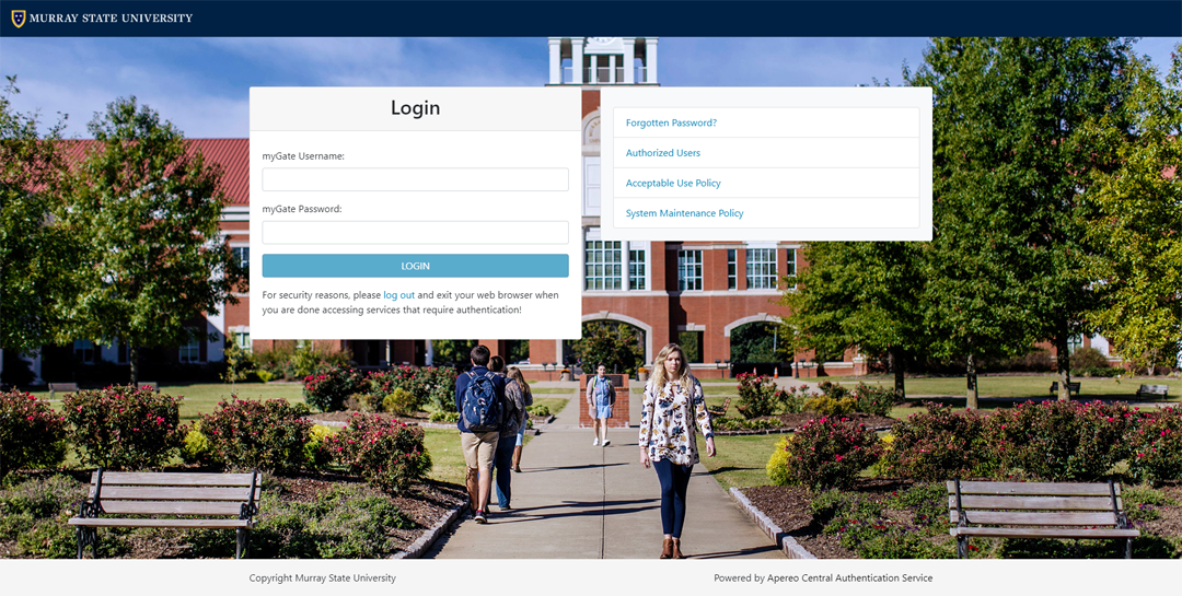 New login page for CAS